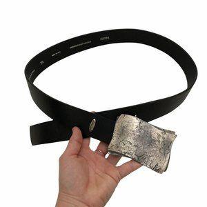 LIQUID TULLIANI Men's Brown Buckle Leather Belt
